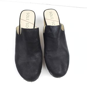 Sole Society Leather Clogs